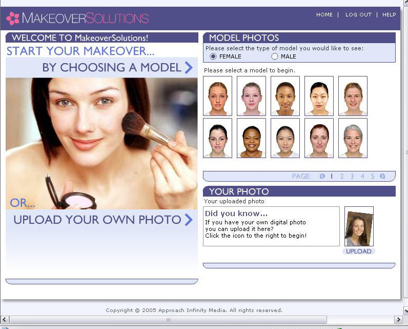 Upload your own photo to try on hairstyles