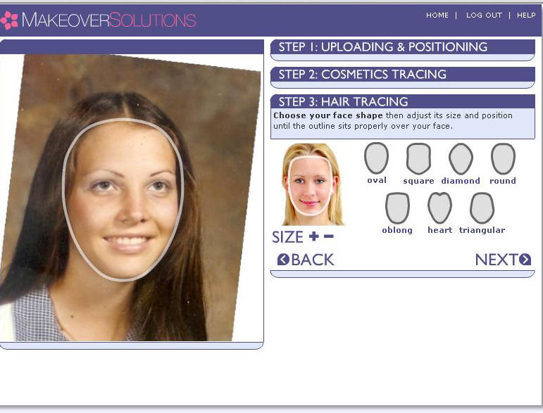 Upload Photo Into Makeover Solutions To Try On Hair Styles