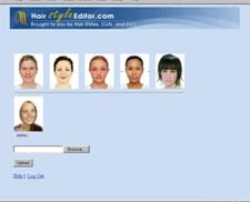 Adjust your photo for trying on hair styles