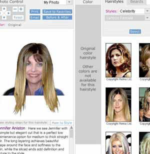 Long celebrity hair styles, smooth, with choppy bangs